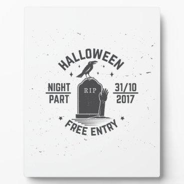 Halloween Themed Halloween-party Plaque