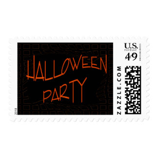 Halloween Party Postage Stamp
