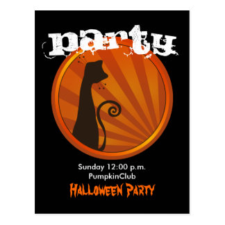 Halloween Party Postcard