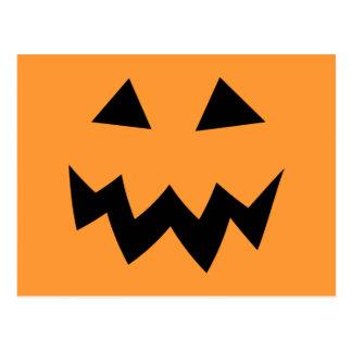 Halloween party postcards | pumpkin head face