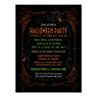 Halloween Party Poster 12 x 16