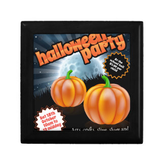 Halloween Party Poster Jewelry Box
