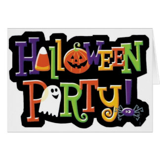 Halloween Party Prep Series Card