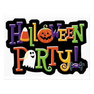 Halloween Party Prep Series Postcard