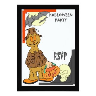 Halloween party pumpkin figure card