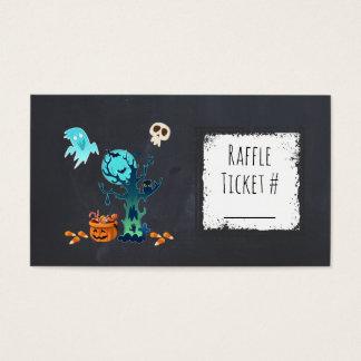 Halloween Party Raffle Ticket Spooky Illustration