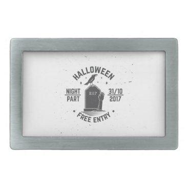 Halloween Themed Halloween-party Rectangular Belt Buckle