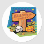 Halloween Party Round Stickers