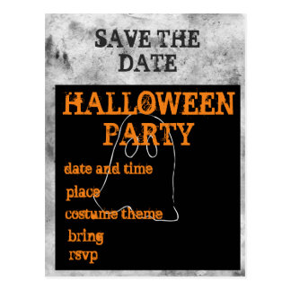 Halloween Party Save the Date Postcard