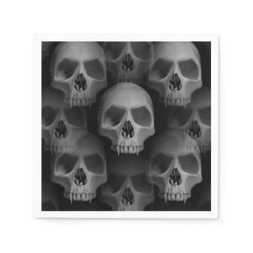 TheHopefulRomantic Halloween party | scary skull paper napkin