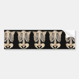Halloween Party Scary Zombie Cage Skeleton Bumper Sticker