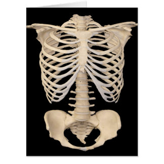 Halloween Party Scary Zombie Cage Skeleton Card