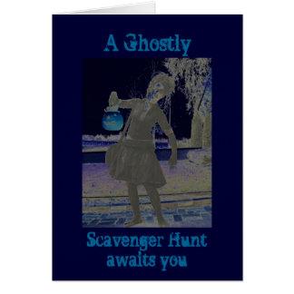 Halloween Party/Scavenger Hunt Invite