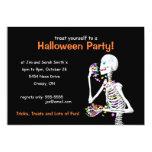 "Halloween Party Skeleton 5"" X 7"" Invitation Card"
