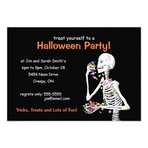 Halloween Party Skeleton Custom Invite