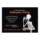 Halloween Party Skeleton 3.5x5 Paper Invitation Card