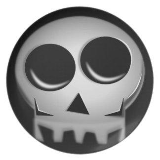 halloween party,skull plate