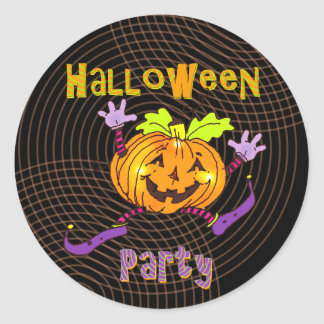 Halloween Party Smiling Pumpkin Stickers