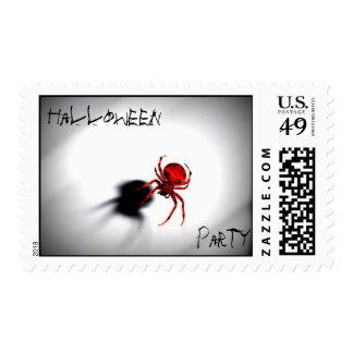Halloween Party, spider postage