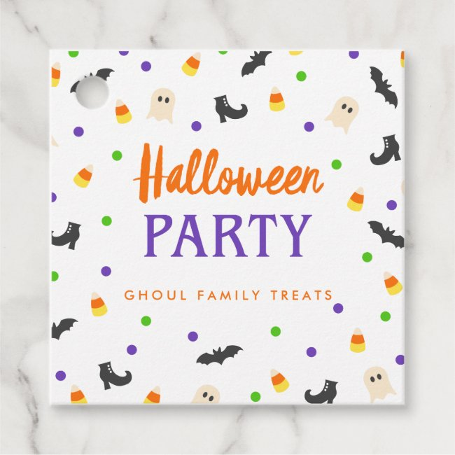 Halloween Party   Spooky Celebration   Favor Tags