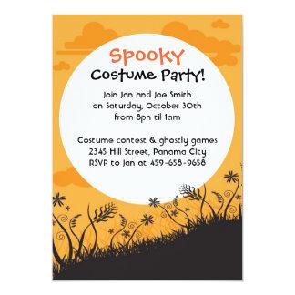 Halloween party spooky moon invitations