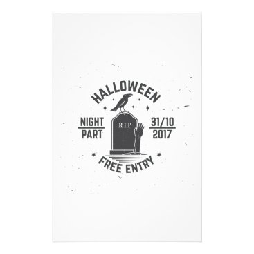 Halloween Themed Halloween-party Stationery