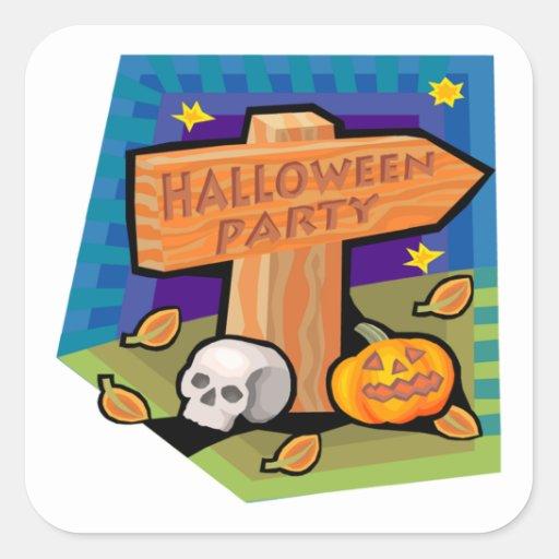 Halloween Party Sticker