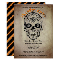 Halloween Party Sugar Skull Day of the Dead Invitation