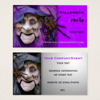 Halloween Party Supplies or Event Business Card