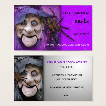 Professional Business Halloween Party Supplies or Event Business Card