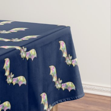 Halloween Themed Halloween Party Tablecloth Bat and Heart