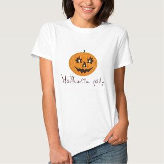 Halloween party tee shirt