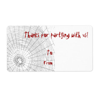 Halloween Party Thank You Gift Tags Custom Shipping Labels