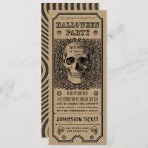 Halloween Party Ticket Invitations Steampunk Kraft