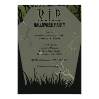 Halloween Party Tombstone 5x7 Paper Invitation Card
