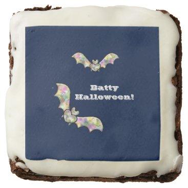 Halloween Themed Halloween Party Treats Bat and Heart Batty Chocolate Brownie