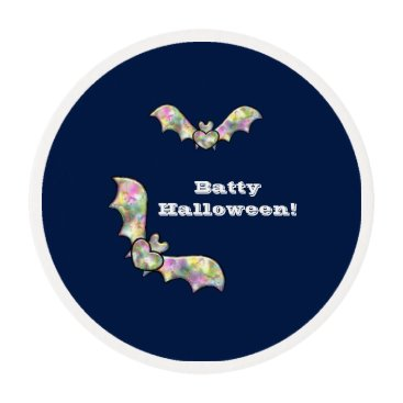 Halloween Themed Halloween Party Treats Bat and Heart Batty Edible Frosting Rounds