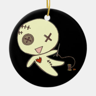 Halloween party voodoo doll ornament batcave goth