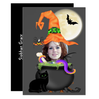 Halloween Party Witch Template