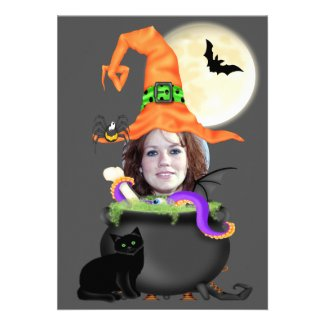 Halloween Party Witch Template Invite
