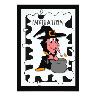 Halloween party Witch's cauldren Card