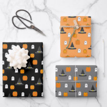 Halloween Party Wrapping Paper Sheets