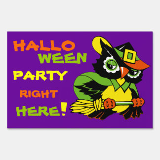 Halloween Party Yard Sign