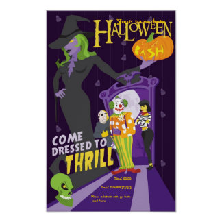 Halloween pary poster
