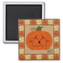 Halloween Patchwork Pumpkin Magnet magnet