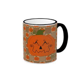 Halloween Patchwork Pumpkin Mug