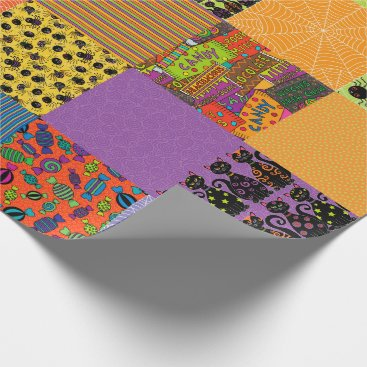 Halloween Themed Halloween Patchwork Wrapping Paper