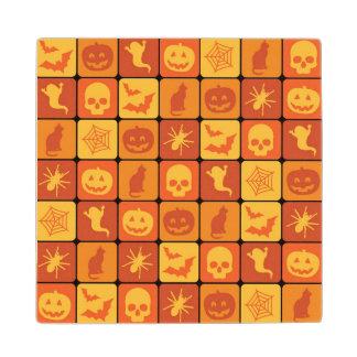 Halloween Pattern 2 Wood Coaster