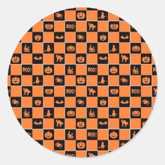 Halloween Pattern Classic Round Sticker