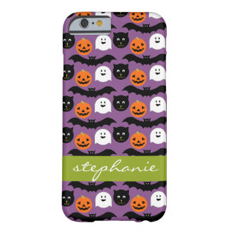 Halloween Pattern - Cute Bat Cat Pumpkin Ghost Barely There iPhone 6 Case